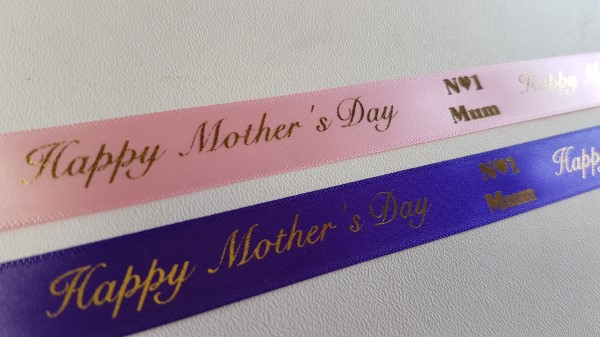 Mother's Day Printed Gift Wrap Ribbon