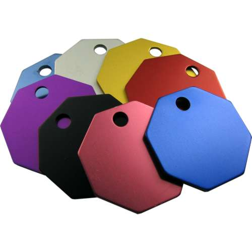Octagon Pet Tag 32mm