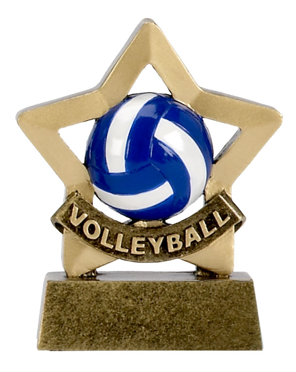 Mini Star Resin Volleyball Trophy