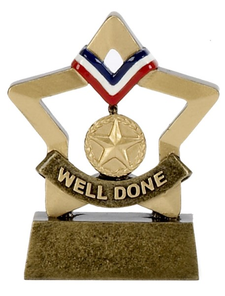 Mini Star Resin Gold Medal Trophy