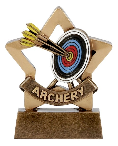 Mini Star Resin Archery Trophy