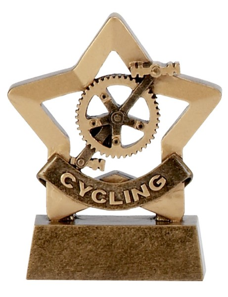 Mini Star Resin Cycling Trophy