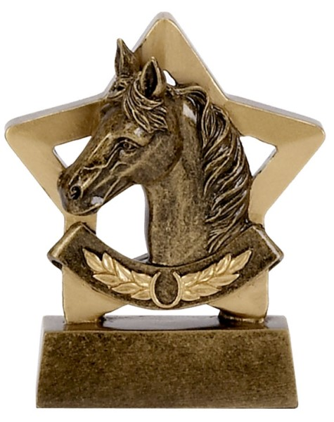 Mini Star Resin Equestrian Trophy