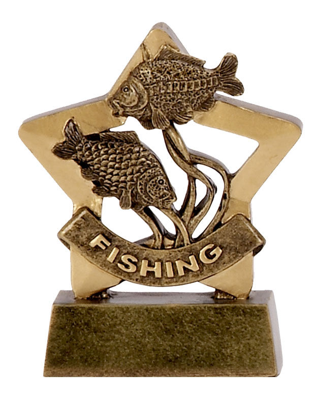 Mini Star Resin Fishing Trophy
