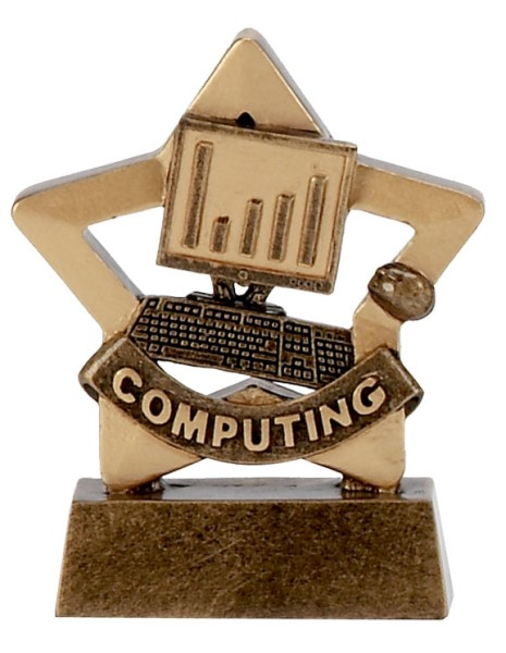 Mini Star Resin Computing Trophy