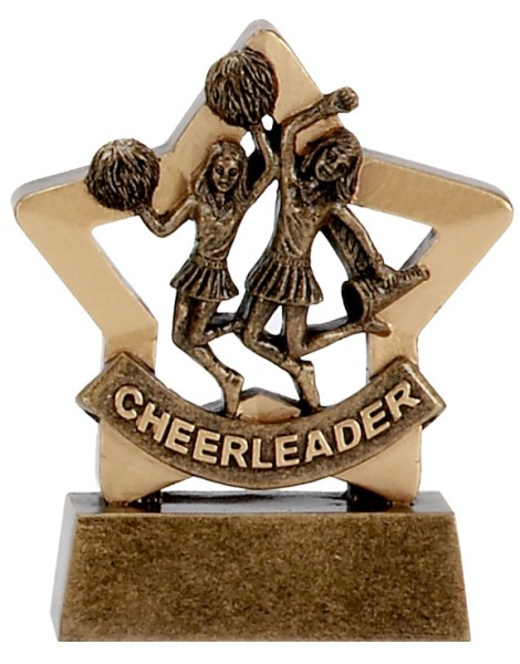 Mini Star Resin Cheerleader Trophy