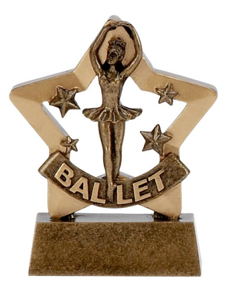 Mini Star Resin Ballet Trophy