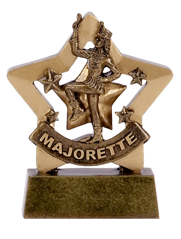 Mini Star Resin Majorette Trophy