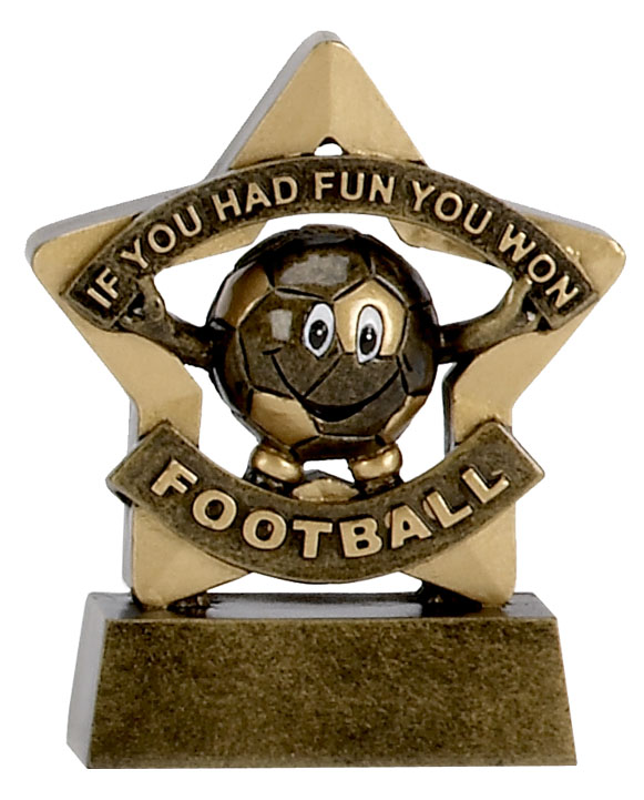 Mini Star Resin Football Man Trophy