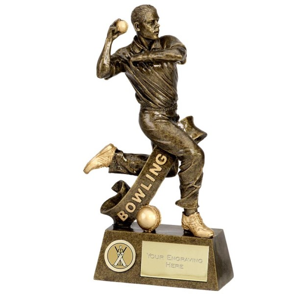 Pinnacle Bowling Cricket Trophy 18.5cm