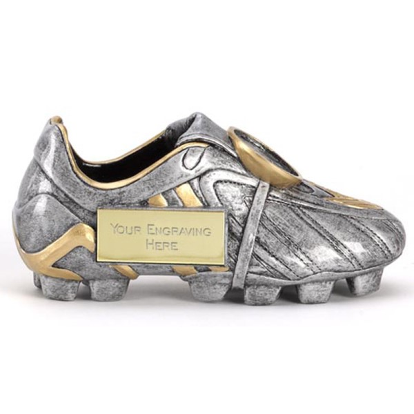 Man of the Match Silver Football Boot Trophy