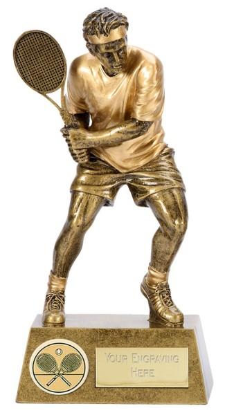 Pinnacle Resin Male Tennis Player Trophy