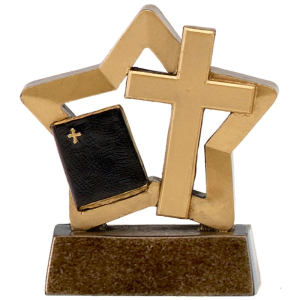 Mini Star Resin Christianity Trophy
