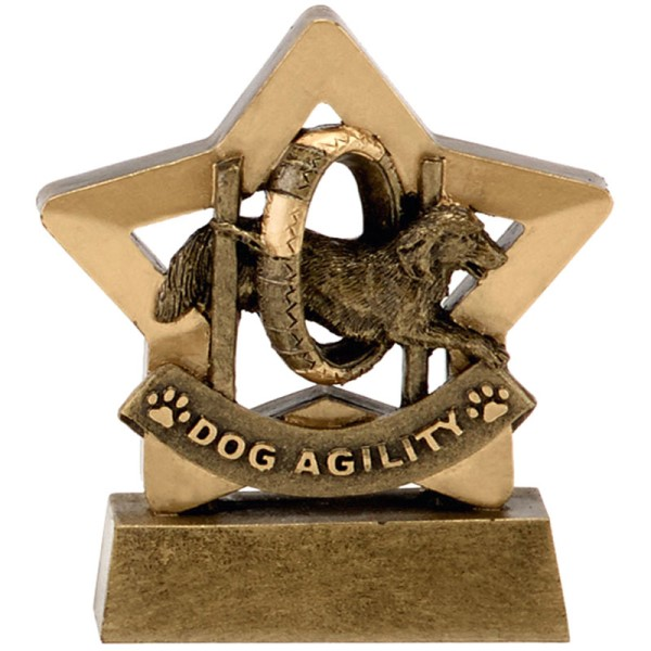 Agility Dog Show Mini Star Trophy 14cm