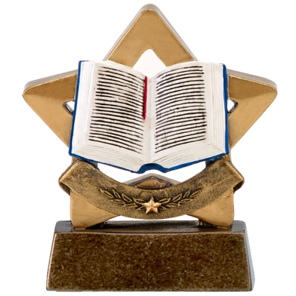 Mini Star Resin Book Trophy