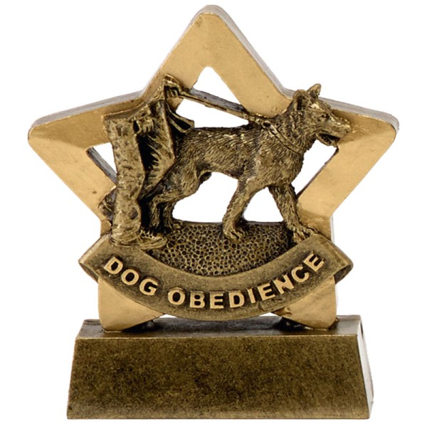 Mini Star Resin Dog Obedience Trophy