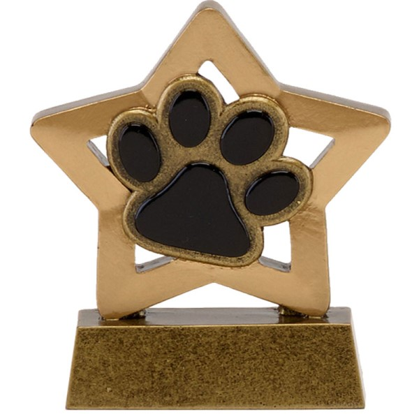 Mini Star Resin Dog/Cat Paw Trophy