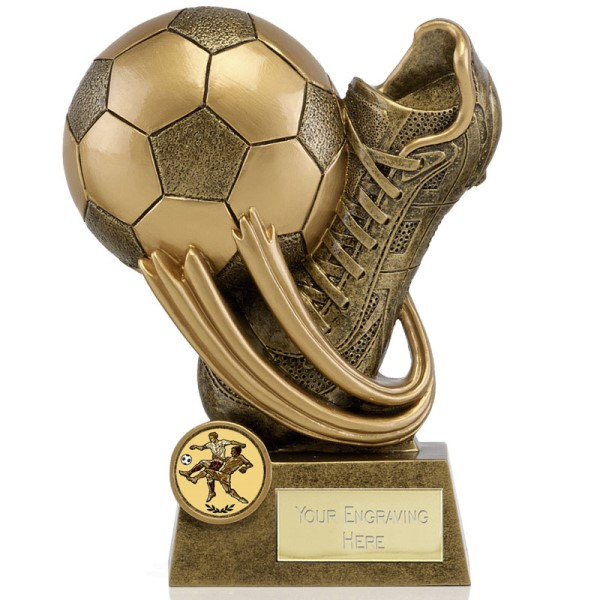Epic Football and Boot Resin Trophy