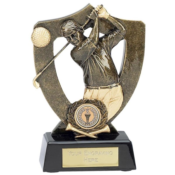 Celebration Shield Golfer Trophy