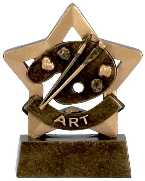 Mini Star Resin Art Trophy