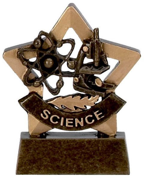 Mini Star Resin Science Trophy