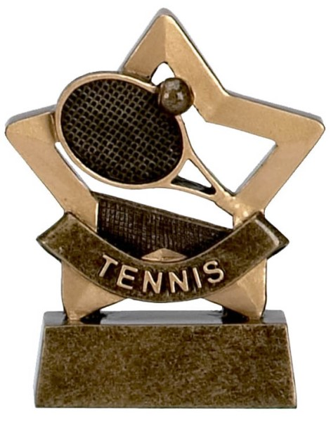 Mini Star Resin Tennis Trophy