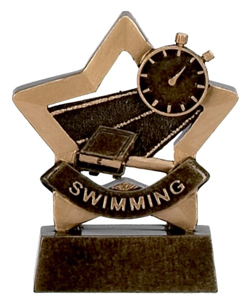 Mini Star Resin Swimming Trophy