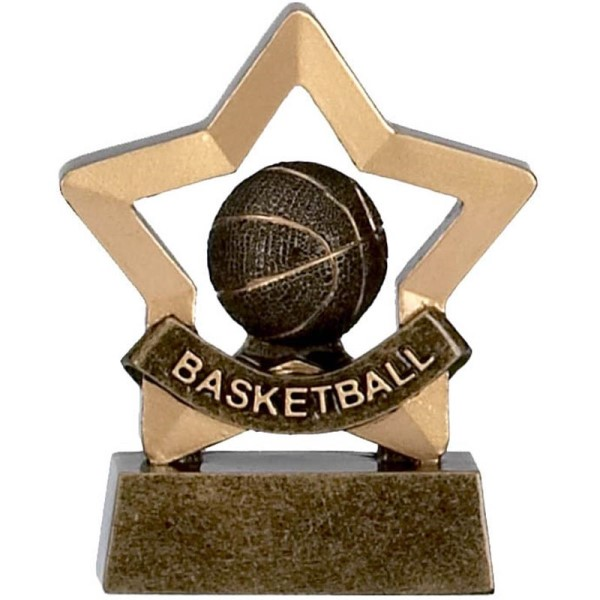 Mini Star Resin Basketball Trophy