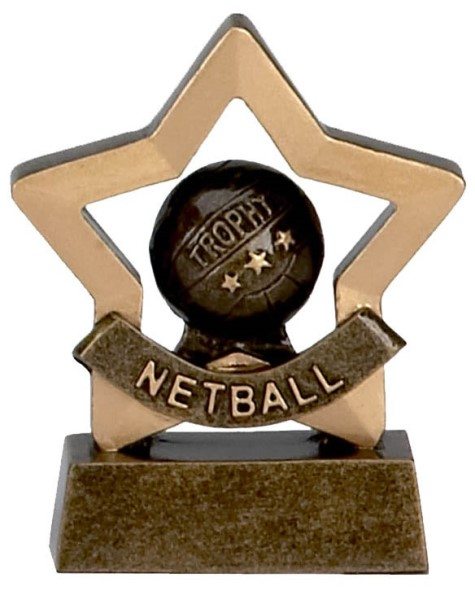 Mini Star Resin Netball Trophy