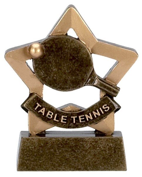 Mini Star Resin Table Tennis Trophy