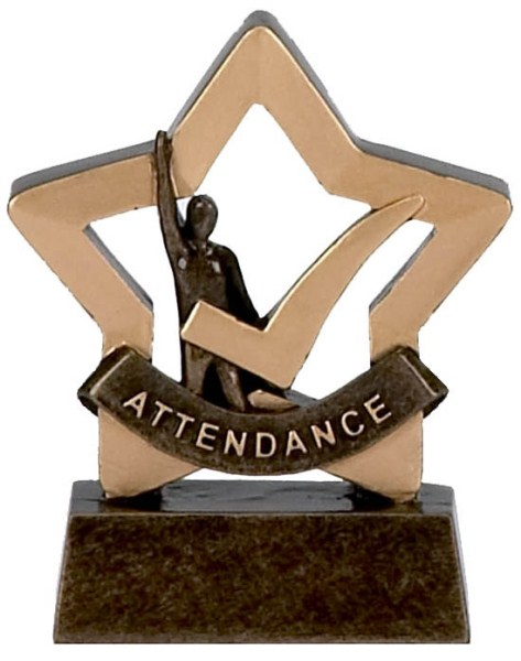 Mini Star Resin Attendance Trophy