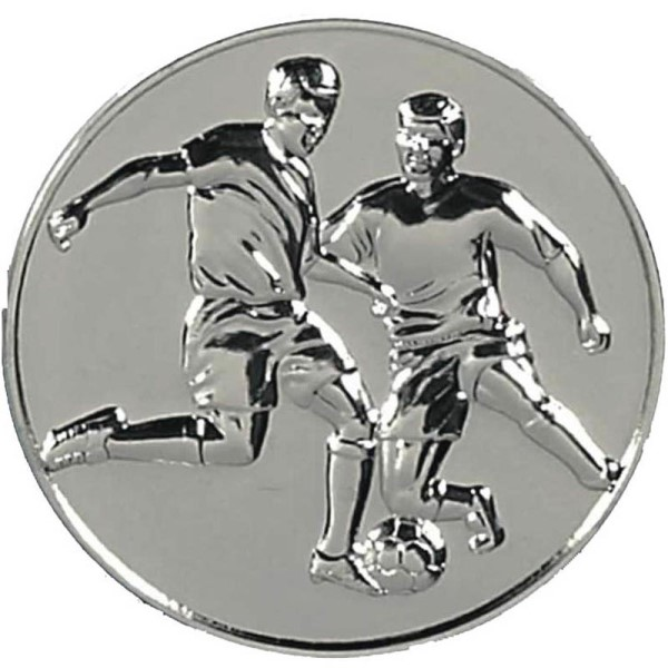 Supreme Football 60mm Medal Silver
