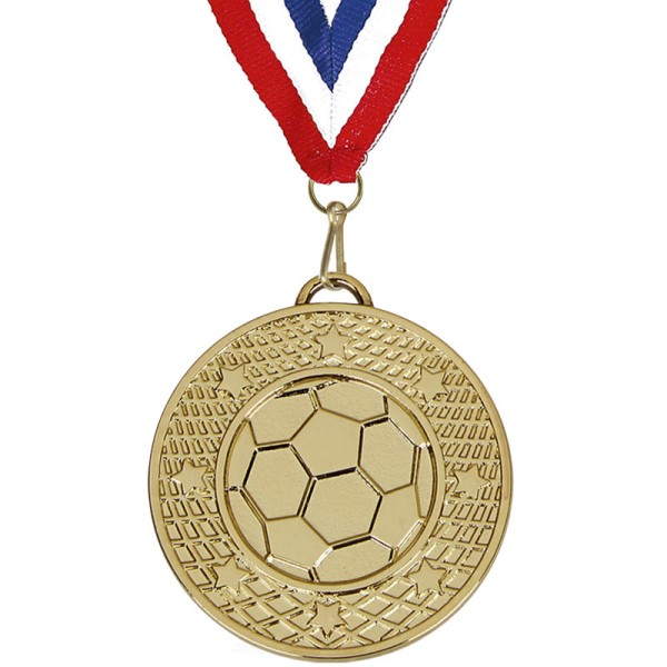 Target 50mm Football Medal with Ribbon