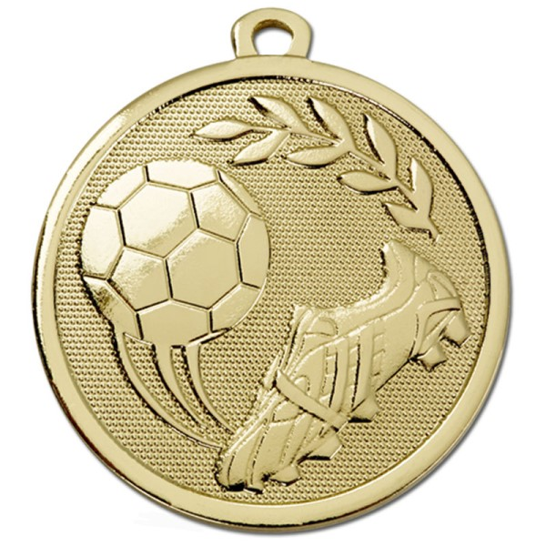 GALAXY Football Boot & Ball  Medal Gold