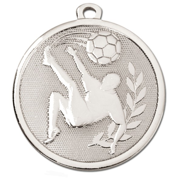 GALAXY Football Kick Medal Silver