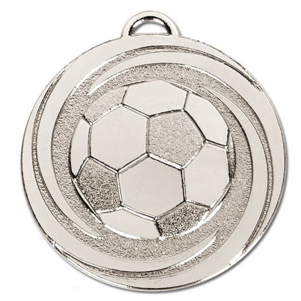 TARGET Twirl Football Medal Silver