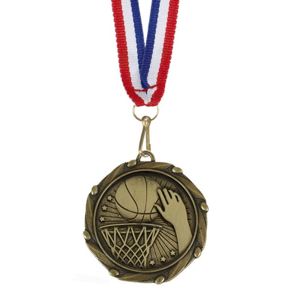 Combo Netball Medal and Ribbon