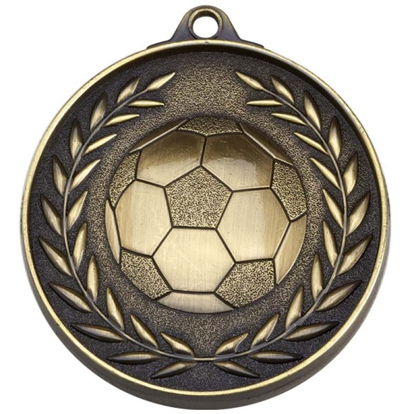Eternity 50mm Football Medal Gold