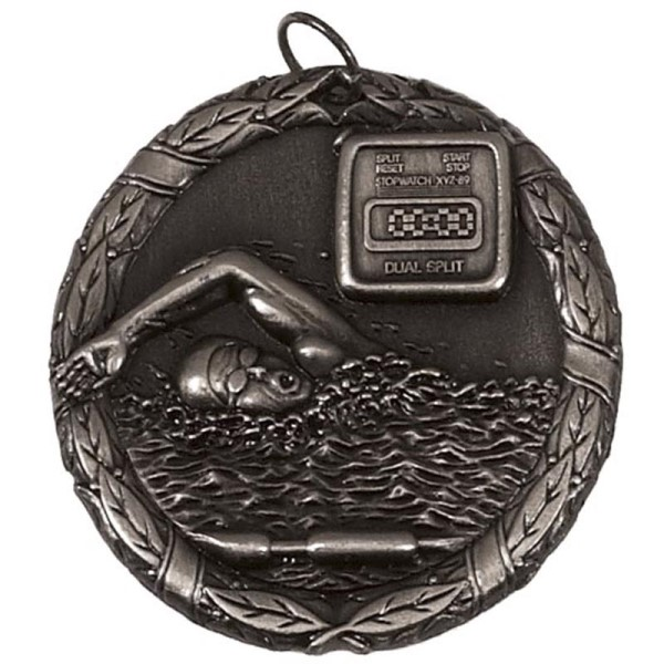 Laurel 50mm Swimming Medal