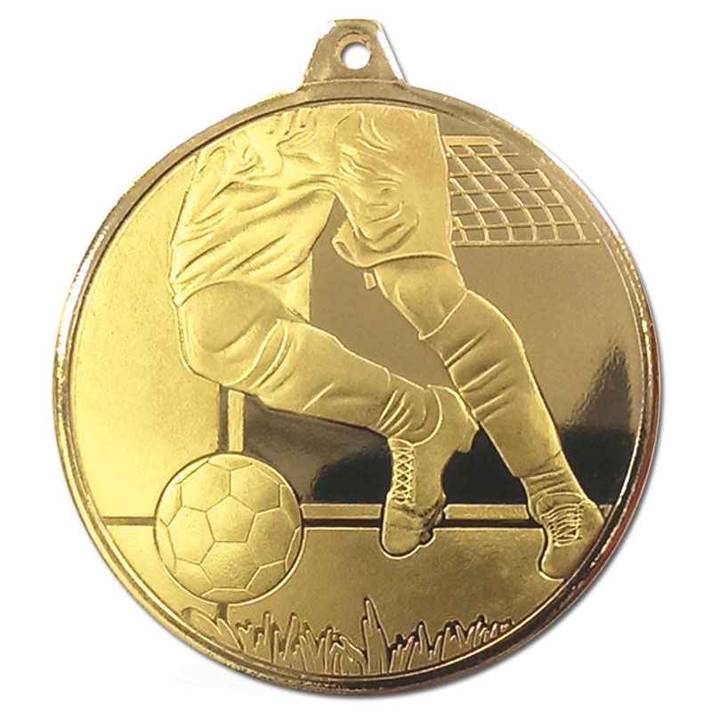 Frosted Glacier Football Medal