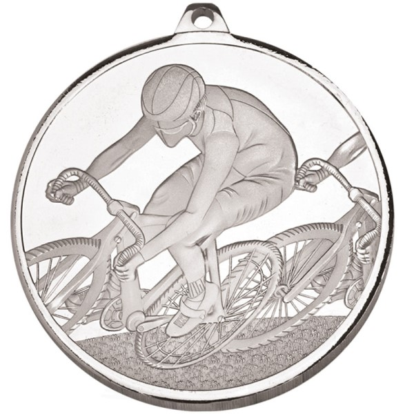 Frosted Glacier Cycling Medal - Silver 60mm