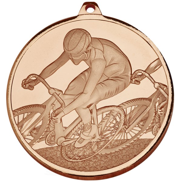 Frosted Glacier Cycling Medal - Bronze 60mm