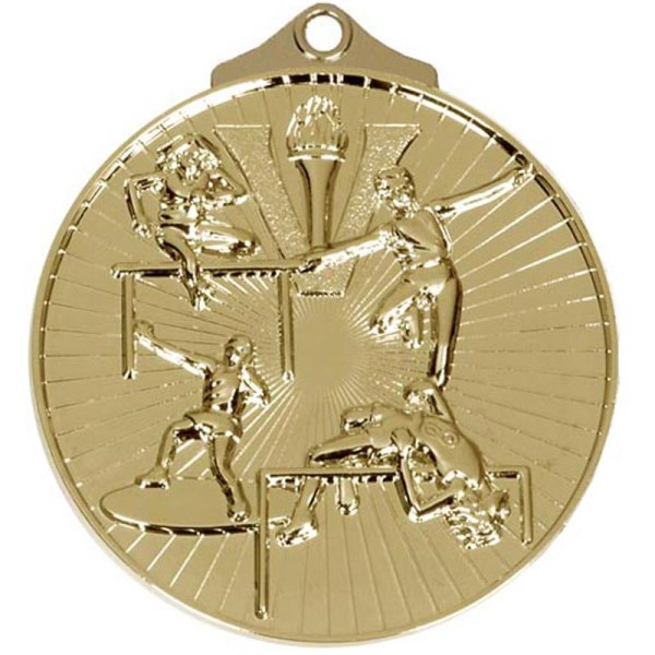 Horizon 52mm Track & Field Medal Gold