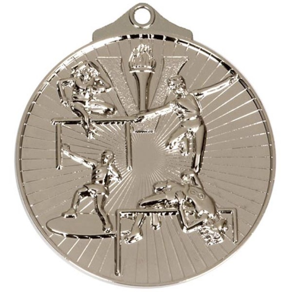 Horizon 52mm Track & Field Medal Silver
