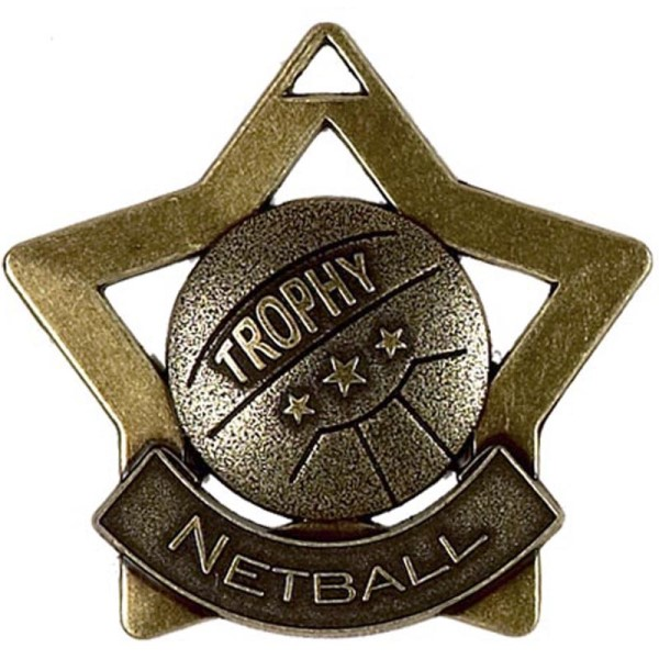 Mini Star Netball Medal Bronze