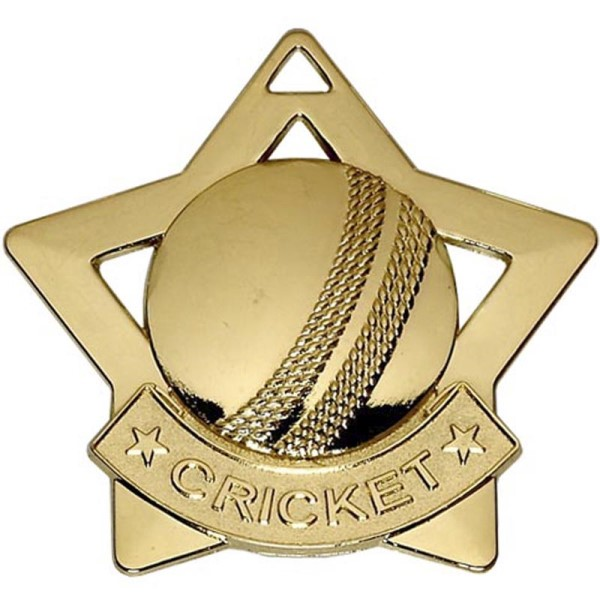Mini Star Cricket Medal