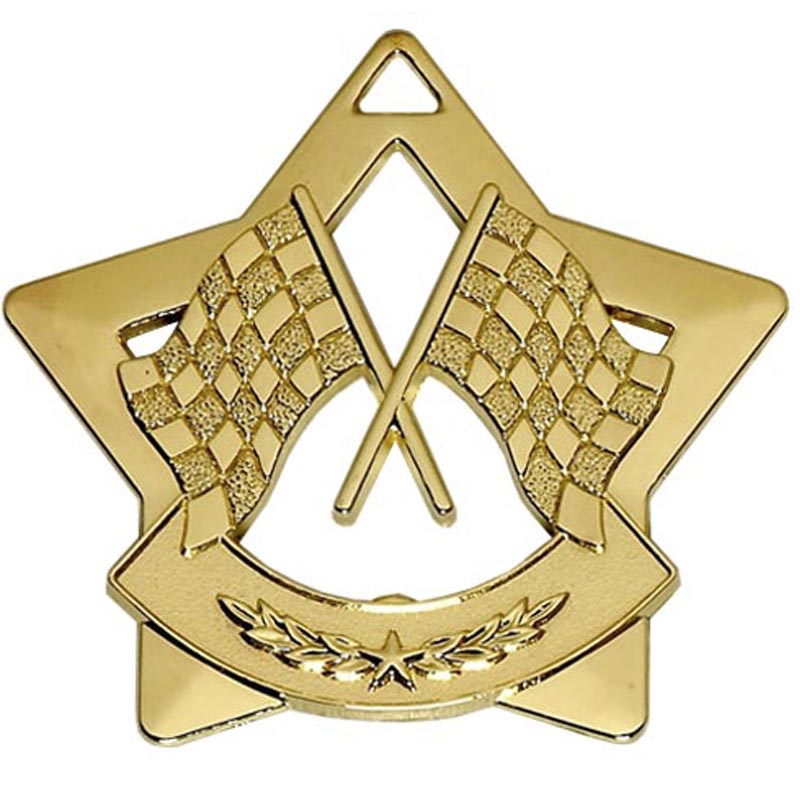Mini Star Crossed Flags Medal