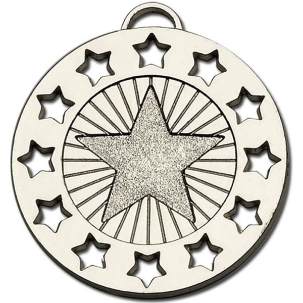 Constellation 40mm Medal Silver
