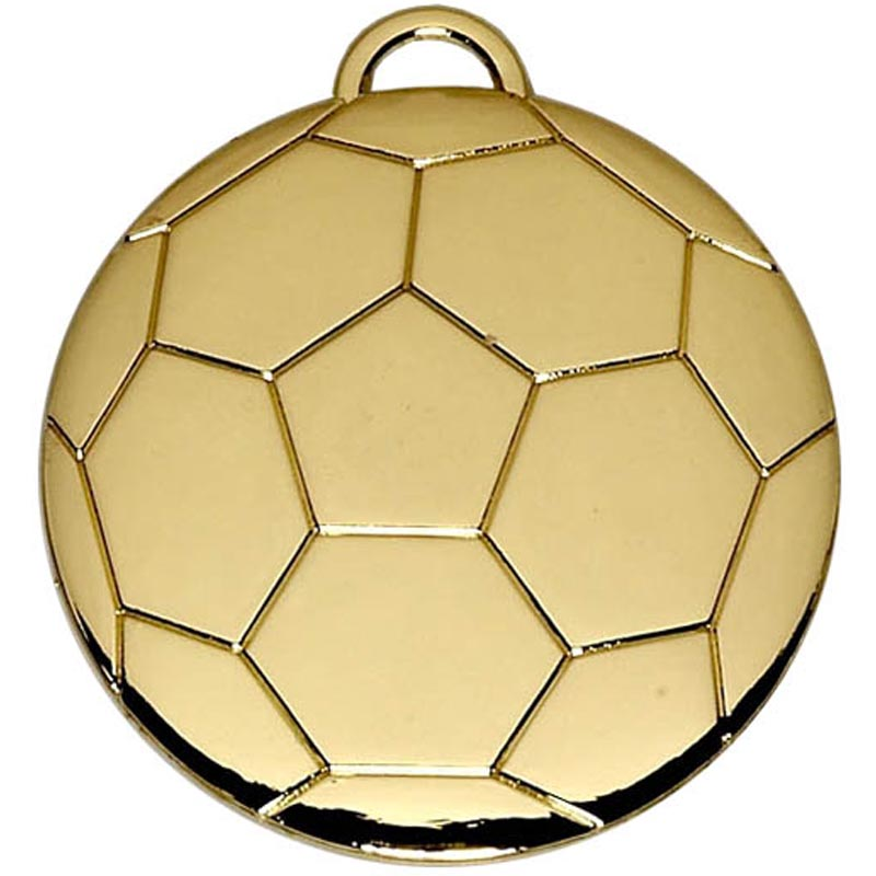 Football 40mm Medal Gold