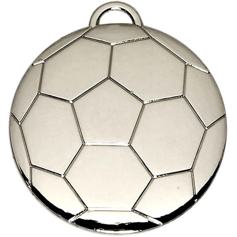 Football 40mm Medal Silver